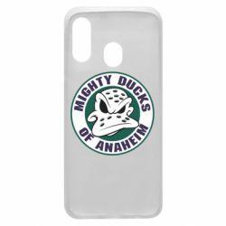Чехол для Samsung A40 Anaheim Mighty Ducks Logo