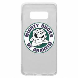 Чехол для Samsung S10e Anaheim Mighty Ducks Logo