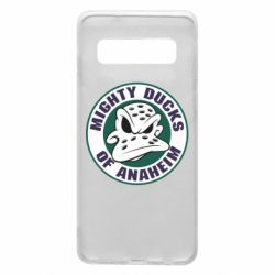 Чехол для Samsung S10 Anaheim Mighty Ducks Logo