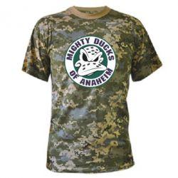 Камуфляжная футболка Anaheim Mighty Ducks Logo - FatLine