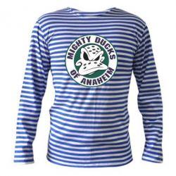 Тельняшка с длинным рукавом Anaheim Mighty Ducks Logo - FatLine