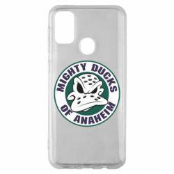 Чехол для Samsung M30s Anaheim Mighty Ducks Logo