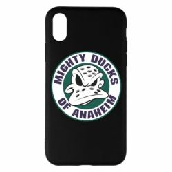 Чехол для iPhone X Anaheim Mighty Ducks Logo - FatLine