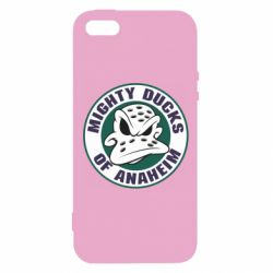 Чехол для iPhone5/5S/SE Anaheim Mighty Ducks Logo - FatLine