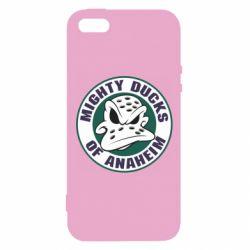 Чехол для iPhone5/5S/SE Anaheim Mighty Ducks Logo