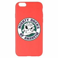 Чехол для iPhone 6 Plus/6S Plus Anaheim Mighty Ducks Logo - FatLine