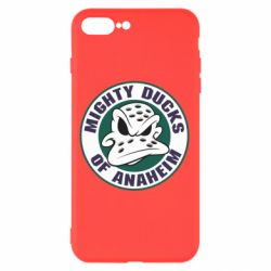 Чехол для iPhone 8 Plus Anaheim Mighty Ducks Logo - FatLine