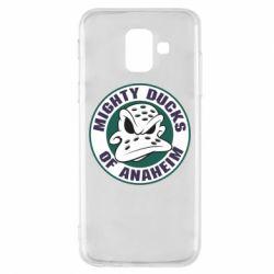 Чехол для Samsung A6 2018 Anaheim Mighty Ducks Logo