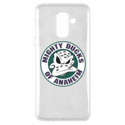 Чехол для Samsung A6+ 2018 Anaheim Mighty Ducks Logo