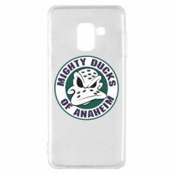 Чехол для Samsung A8 2018 Anaheim Mighty Ducks Logo