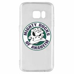 Чехол для Samsung S7 Anaheim Mighty Ducks Logo - FatLine