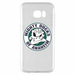 Чехол для Samsung S7 EDGE Anaheim Mighty Ducks Logo - FatLine