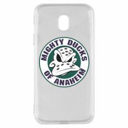 Чехол для Samsung J3 2017 Anaheim Mighty Ducks Logo