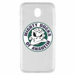 Чехол для Samsung J7 2017 Anaheim Mighty Ducks Logo