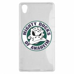 Чехол для Sony Xperia Z1 Anaheim Mighty Ducks Logo - FatLine
