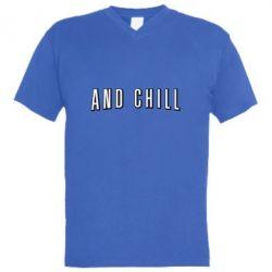 Чоловіча футболка з V-подібним вирізом And Shill
