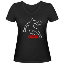 Женская футболка с V-образным вырезом And1 - FatLine
