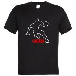 Мужская футболка  с V-образным вырезом And1 - FatLine