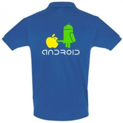 Футболка Поло Android fuck Apple