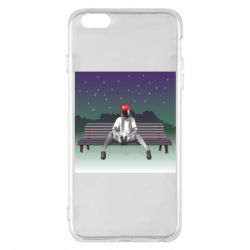 Чохол для iPhone 6 Plus/6S Plus Android girl on the bench