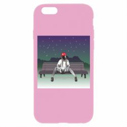 Чохол для iPhone 6/6S Android girl on the bench