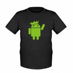 Детская футболка Android King