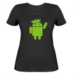 Женская футболка Android King