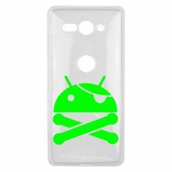 Чехол для Sony Xperia XZ2 Compact Android Pirate - FatLine