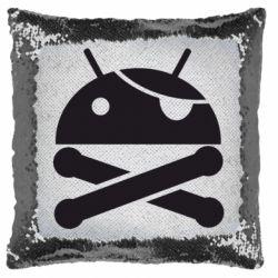 Подушка-хамелеон Android Pirate