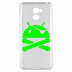 Чехол для Xiaomi Redmi 4 Android Pirate - FatLine