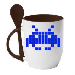 Кружка с керамической ложкой Android Pixel