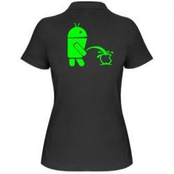 Женская футболка поло Android унижает Apple - FatLine