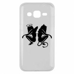 Чохол для Samsung J2 2015 Ангел і Демон