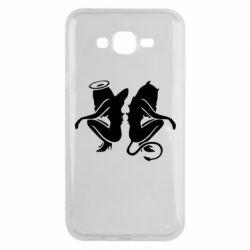 Чохол для Samsung J7 2015 Ангел і Демон