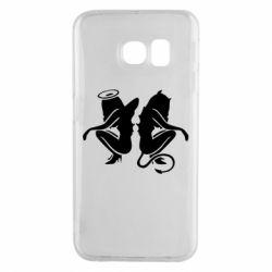 Чохол для Samsung S6 EDGE Ангел і Демон