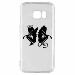 Чохол для Samsung S7 Ангел і Демон