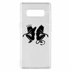 Чохол для Samsung Note 8 Ангел і Демон