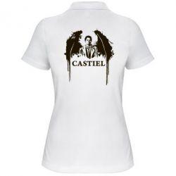 Женская футболка поло Ангел Кастиэль - FatLine