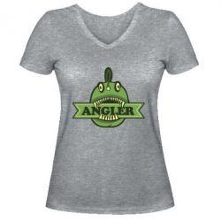 FatLine / Женская футболка с V-образным вырезом Angler
