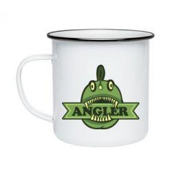 Кружка емальована Angler