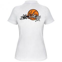 Женская футболка поло Angry ball - FatLine