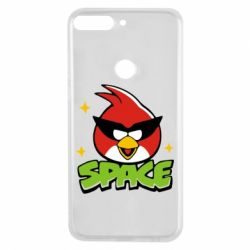 Чехол для Huawei Y7 Prime 2018 Angry Birds Space - FatLine