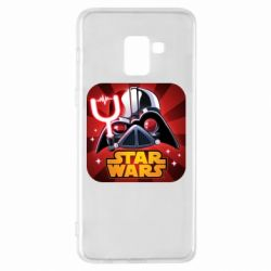 Чохол для Samsung A8+ 2018 Angry Birds Star Wars Logo - FatLine