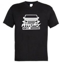 Мужская футболка  с V-образным вырезом Angry Off Road