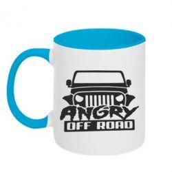 Кружка двухцветная Angry Off Road
