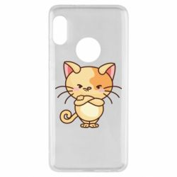 Чехол для Xiaomi Redmi Note 5 Angry red cat