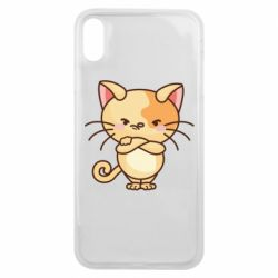 Чехол для iPhone Xs Max Angry red cat
