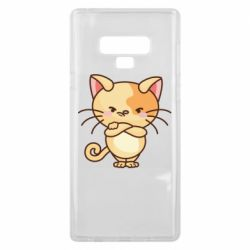 Чехол для Samsung Note 9 Angry red cat