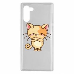 Чехол для Samsung Note 10 Angry red cat