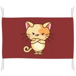 Флаг Angry red cat